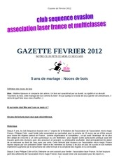 gazette fevrier 2012