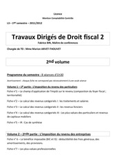 l3 s1 fiscal 2 td fiches 2nde partie bic is