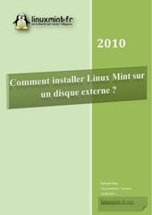 comment installer linux mint sur un disque externe