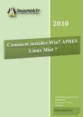 comment installer win7 apres linux mint
