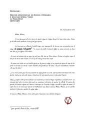 lettre anonyme services veterinaires