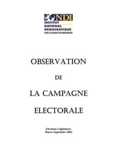 manual observation of the electoral campaign french