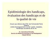 ue 2 3 s2 epidemio evaluation handicap