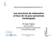 ue 2 3 s2 structures de reeducation et lieux de vies pour personnes handicapees