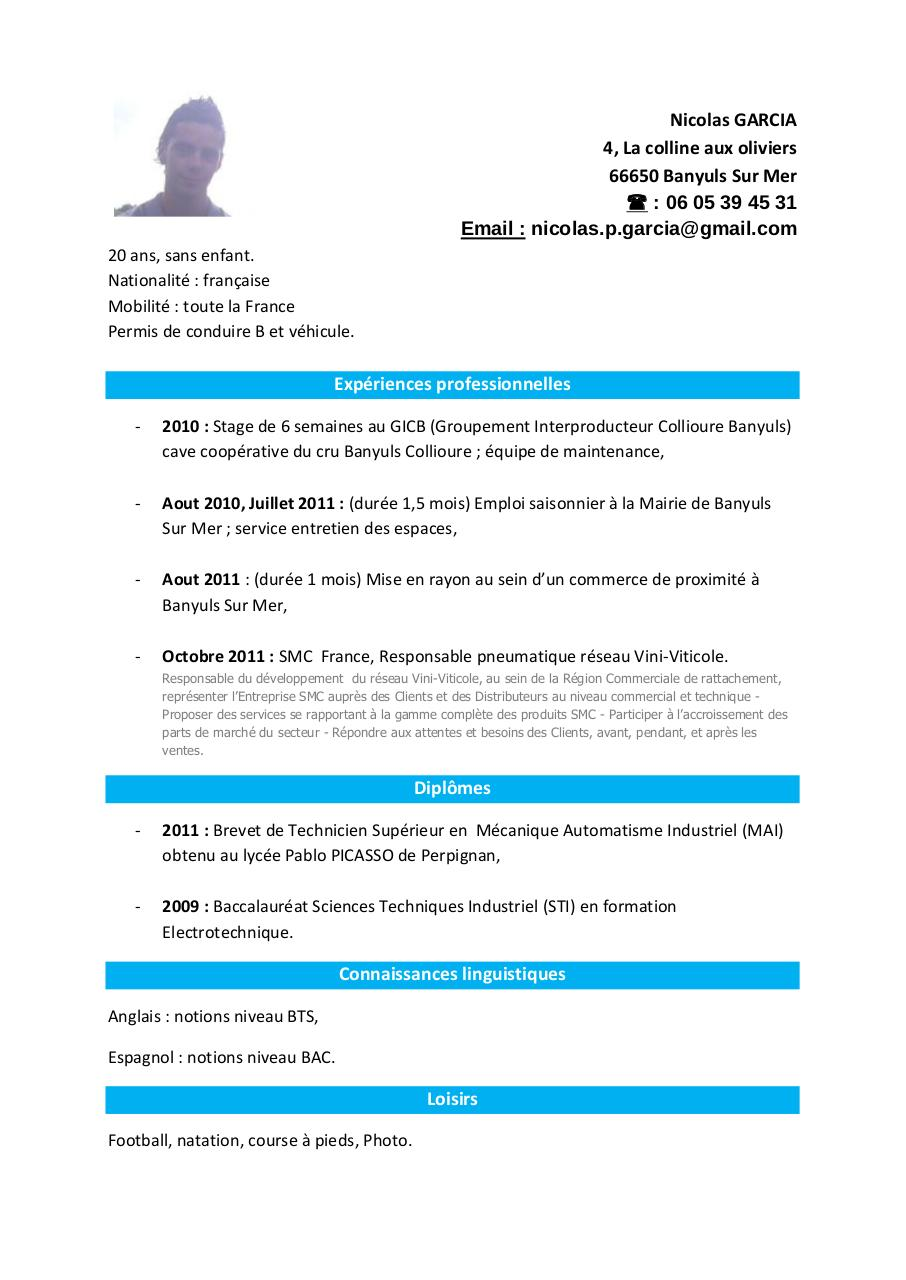 cv de nicolas garcia pdf par nadine