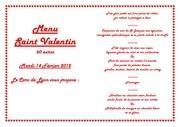 menu st valentin 2012
