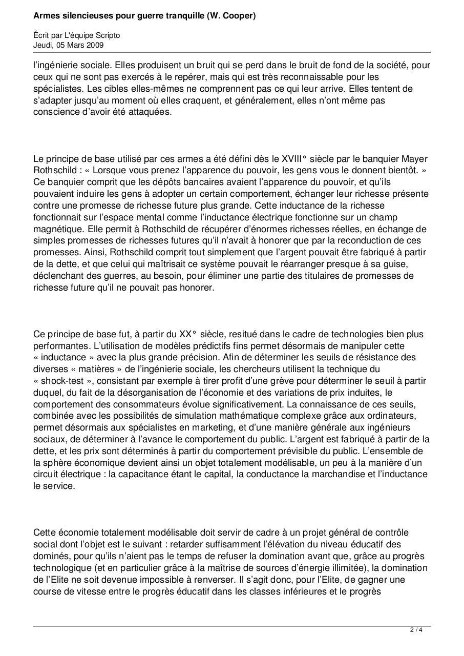 GUERRES TÉLÉCHARGER POUR PDF TRANQUILLES SILENCIEUSES ARMES