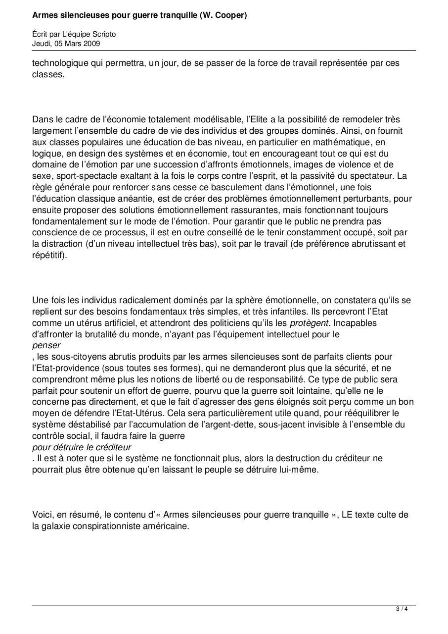 SILENCIEUSES TRANQUILLES ARMES PDF TÉLÉCHARGER POUR GUERRES
