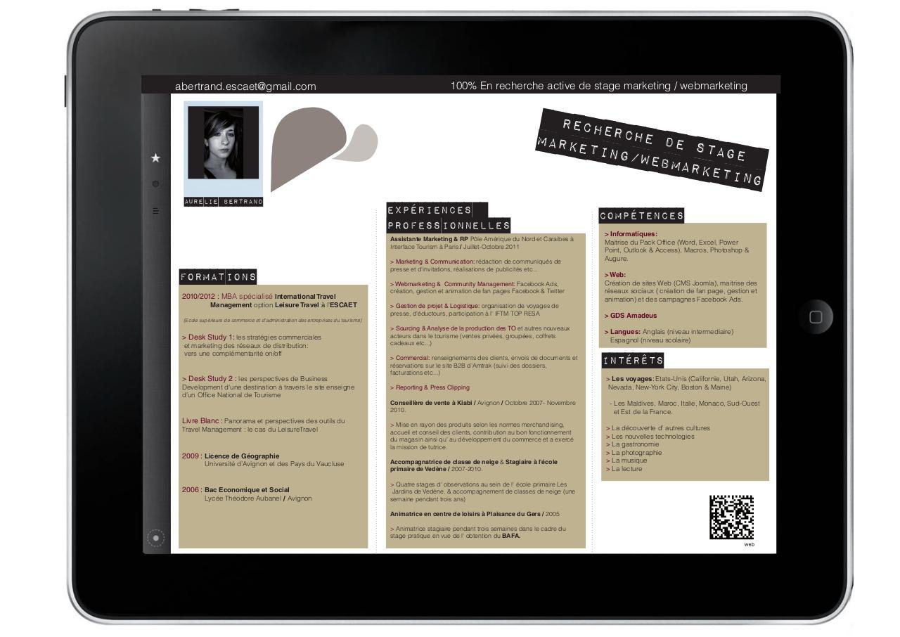 cv aur u00e9 - cv aur u00e9lie bertrand escaet pdf
