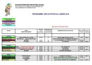 2012 planning activites 1