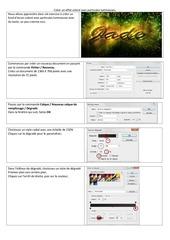 Fichier PDF effet colore avec particules lumineuses