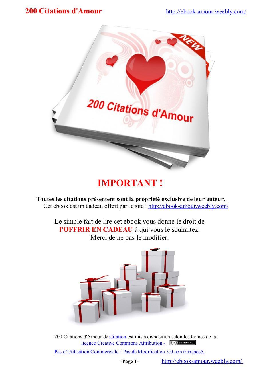 200 Citations D Amour Fichier Pdf