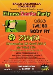 affiche fitness zumba party