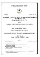 guide pratique des principales urg pediatriques