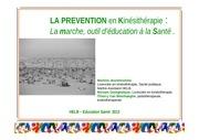 la prevention en kinesitherapie la marche outil d education ala sante