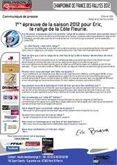 communique presse eric 1ere epreuve de la saison 2012 pour eric le rallye de la cote fleurie pdf