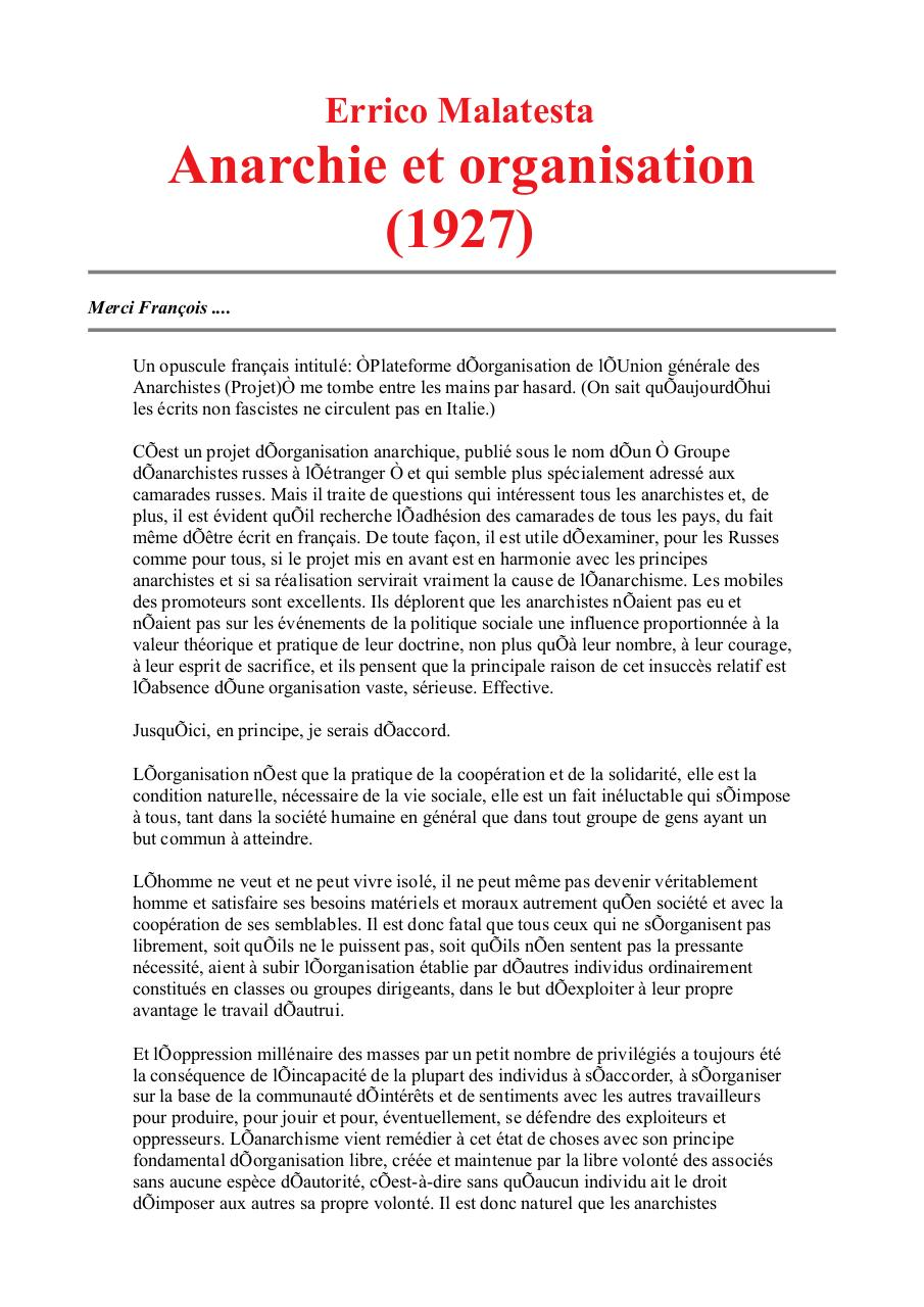 E. Malatesta (Anarchie et organisation).pdf - page 1/7
