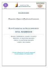 plan communal de developpement 2011 2016 d el marbouh