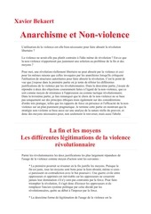 x bekaert anarchisme et non violence