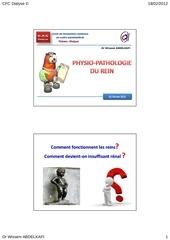 2physiopathologie renale dr wissem abdelkafi