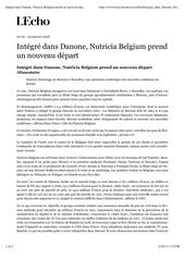 integre dans danone nutricia belgium prend un nouveau depart l echo
