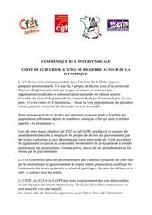 communique intersyndical suite au 15 fevrier 2012 def