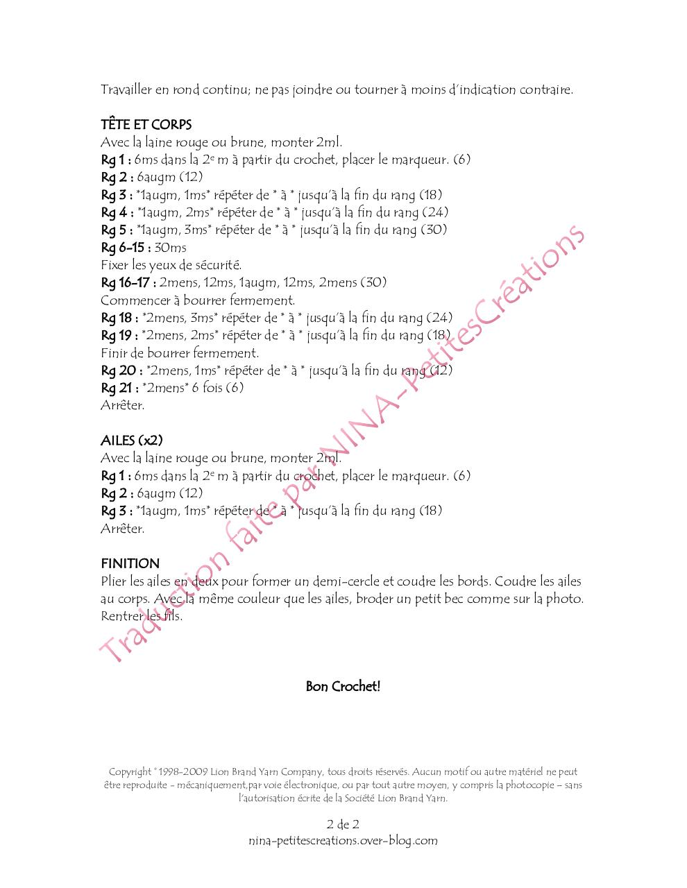 Aperçu AMIGURUMI PETITS INSÉPARABLES.pdf - Page 2/2
