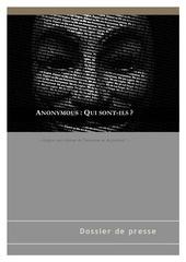 dossier de presse anonymous