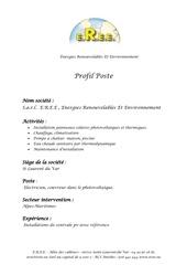 profil de poste