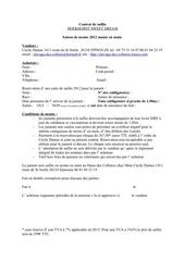 contrat de saillie 2012
