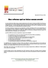 reforme de la filiere tract finalise