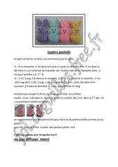 lapins pastels