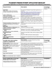 fulbrightonlinefulbright foreign student application checklist