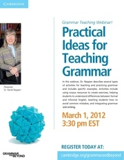 practical ideas for teaching grammar flyer