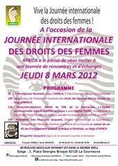affiche 8 mars 2012