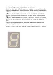 un afficheur 7 segments permet de visualiser les chiffres de 0 a 9