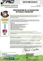 communique de presse tac presentation saison 2012 pascal chevallier christophe pigne porsche cayman s gt10