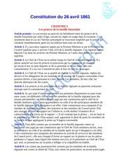 Fichier PDF texte de la constitution de 1861 version en langue francaise