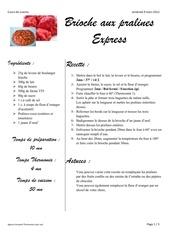 Fichier PDF cours de cuisine