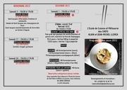 programme ecole de cuisine 2012