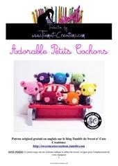 Fichier PDF adorable petits cochons