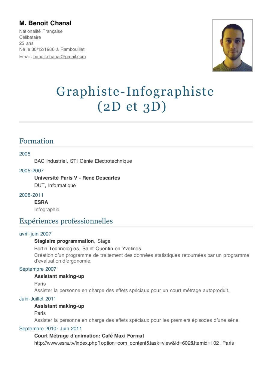 example resume  exemple cv centre d interet