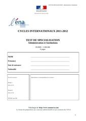 examen ena international 2 www enamaroc com