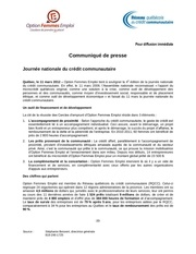 cp 4e Edition de la journee nationale du credit communautaire