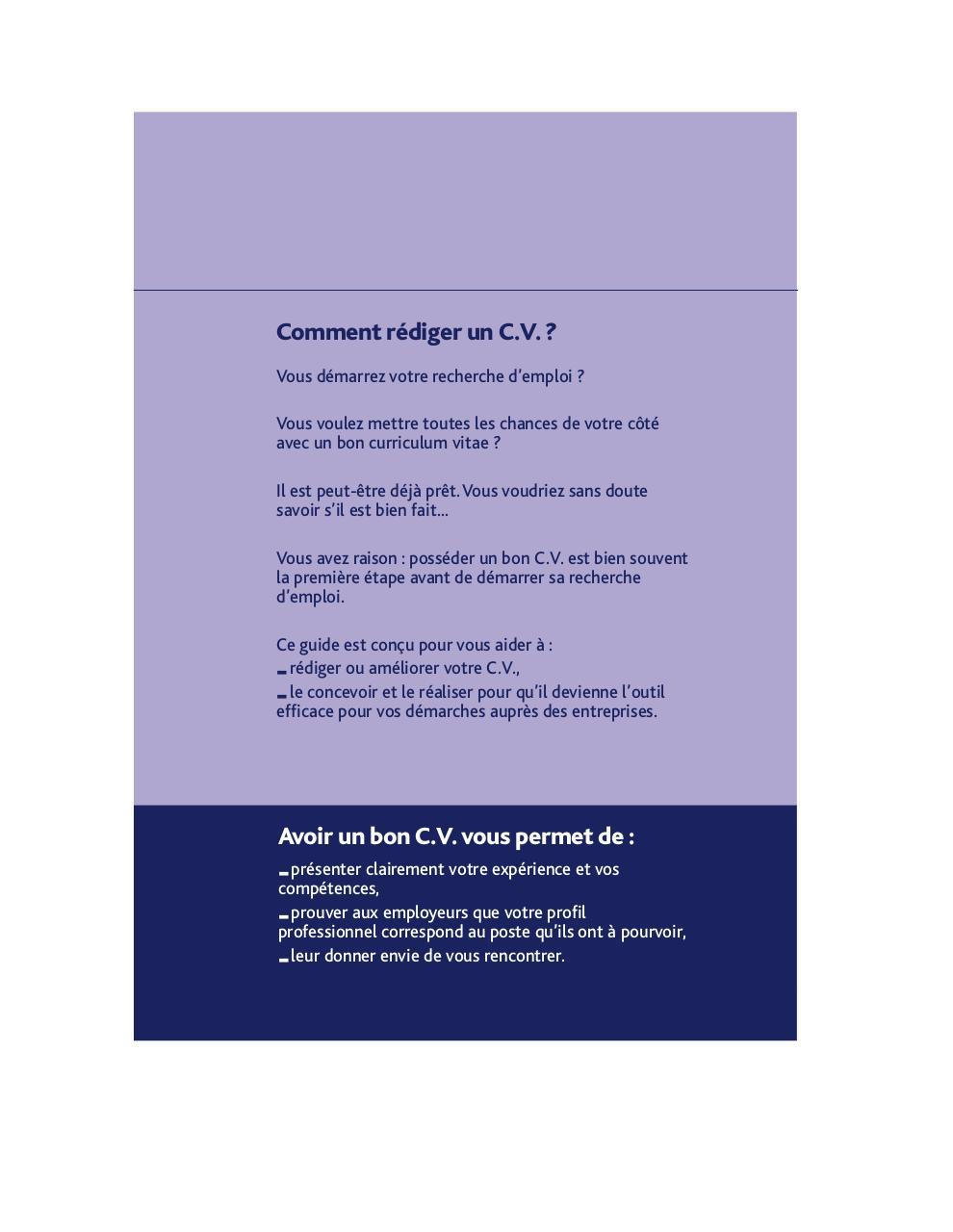 822 cv par hugues - comment  u00e9crire un bon cv pdf