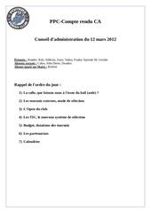 compte rendu conseil d administration du 12 mars 2012