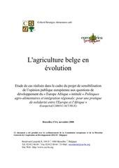 l agriculture belge en evolution