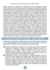 atfd pour l egalite dans l heritage brochure du 13 aout 2006