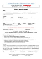 formulaire d inscription aux randonnees
