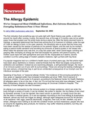the allergy epidemic print newsweek